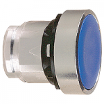 Blue Flush head for pushbutton, Push-push with