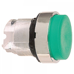 Green Projecting head for pushbutton, Push-push with