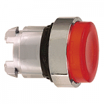 Red Projecting head for pushbutton, Push-push with Integral LED