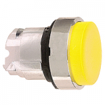 Yellow Projecting head for pushbutton, Push-push with