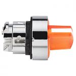Orange illuminated selector switch with 3 positions +/- 45°