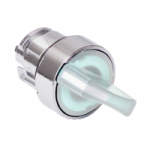 White illuminated selector switch with 2 positions 90°