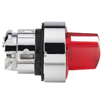 Red illuminated selector switch with 2 positions 90°