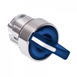 Blue illuminated selector switch with 2 positions 90°