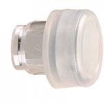 White Projecting head for pushbutton, with Clear boot, not compatible with legend holder