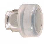 Black Projecting head for pushbutton, with Clear boot, not compatible with legend holder, sold by 100