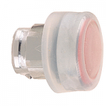 Red Projecting head for pushbutton, with Clear boot, not compatible with legend holder, sold by 100