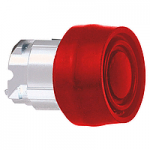 Red Flush head for pushbutton, with Coloured boot, compatible with legend holder