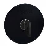 Black mushroom head 60 Ø , Key release - Ronis 455