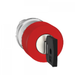 Red Emergency pushbutton 30 Ø , Key release - Ronis 455
