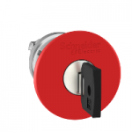 Red Emergency pushbutton 40 Ø , Key release - Ronis 455