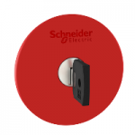 Red Emergency pushbutton 60 Ø , Key release - Ronis 455