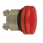 Red pilot light with plain lens, for insertion of legend Integral LED