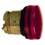 Red pilot light with grooved lens Integral LED