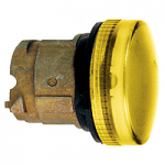 Yellow pilot light with grooved lens Integral LED