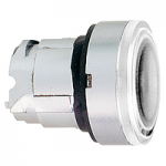 White head for pushbutton, Flush, for BA9s with plain lens