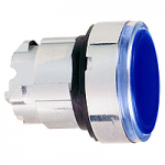 Blue head for pushbutton, Flush, for Integral LED with plain lens