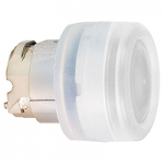White head for pushbutton, Flush, for Integral LED with Clear boot, not compatible with legend holder