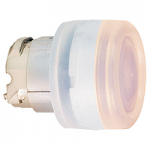 Red head for pushbutton, Flush, for Integral LED with Clear boot, not compatible with legend holder