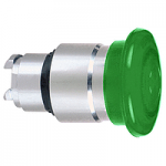 Green head for pushbutton, Mushroom, for Integral LED