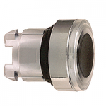 White head for pushbutton, Flush, for Integral LED with illuminated ring