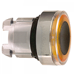 Orange head for pushbutton, Flush, for Integral LED with illuminated ring