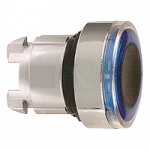 Blue head for pushbutton, Flush, for Integral LED with illuminated ring