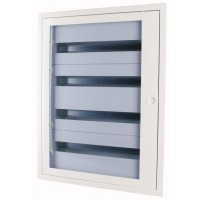 Distribution Flush board xBoard BF 5 x 24, with translucid door, White
