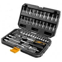 Set of tools and tips 46 parts 1/4 '' industrial class