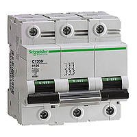 Miniature circuit breaker C120N, 3P, 125 A, B, 20 kA