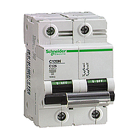 Miniature circuit breaker C120N, 2P, 80 A, C, 20 kA