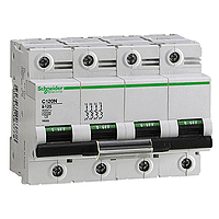 Miniature circuit breaker C120N, 4P, 100 A, C, 20 kA