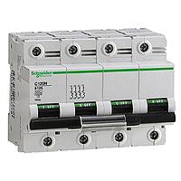 Miniature circuit breaker C120N, 4P, 125 A, C, 20 kA