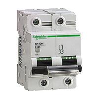 Miniature circuit breaker C120N, 2P, 80 A, D, 20 kA
