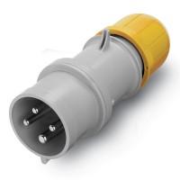 Plug IP52,  100-130 V, 16 A, 3+E, 4 h