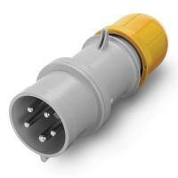 Plug IP61, 100-130 V, 16 A, 3+N+E, 4 h