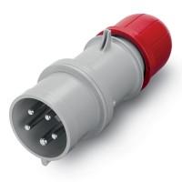 Plug IP67, 380-440 V, 16 A, 3+N+E, 3 h