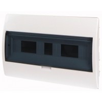 Xboard BC flush enclosure 1 x 18, with translucid door