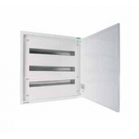 Distribution surface board xBoard BF 3 x 24, with plain door, White