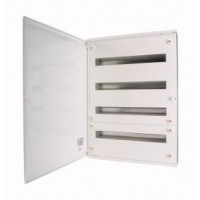 Distribution surface board xBoard BF 4 x 24, with plain door, White