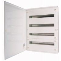 Distribution surface board xBoard BF 5 x 24, with plain door, White