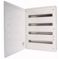 Distribution surface board xBoard BF 6 x 24, with plain door, White