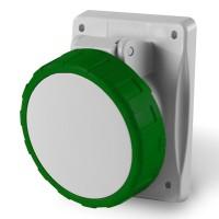 Socket outlet IP66/IP67, >50 V, 32 A, 3+N+E, 2 h