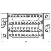 4 pole distribution block TD 160A, 1 input/11 outputs