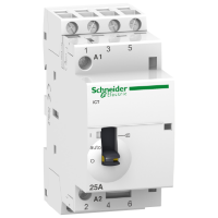 iCT manually operated contactor 4 N/O, 24 V, 25 A