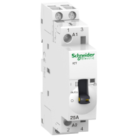 iCT manually operated contactor 2 N/O, 230/240 V, 25 A