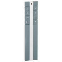 Metal remote control, 8 keys to be customized, Dark grey