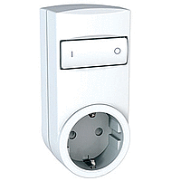 Mobile socket-outlet relay, german type, White