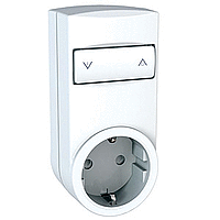 Mobile socket-outlet relay, french type, White