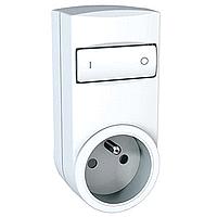 Mobile socket-outlet dimmer, german type, White